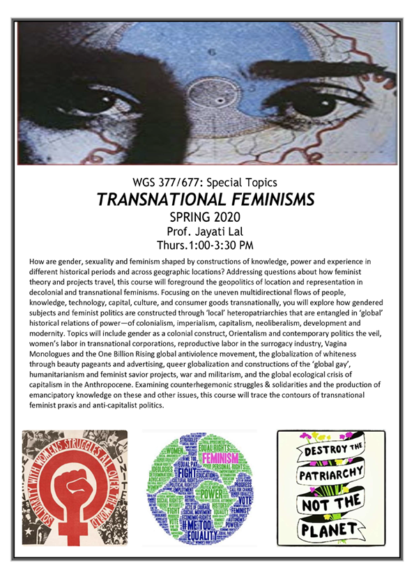 WGS 377- Special Topics- Transnational Feminisms FLYER-final