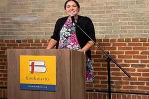 Dr. Gupta speaking at her new book launch